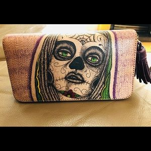 Prison Art Leather Tattoo Wallet, GUC